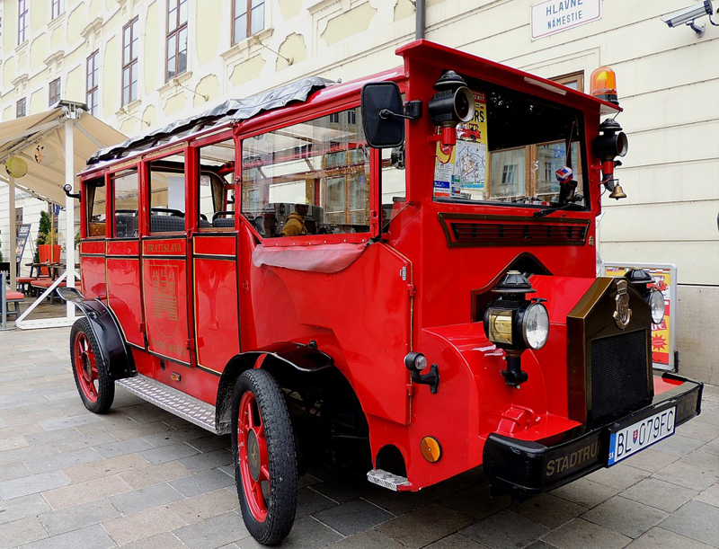 Little Train Tour of the Old Town, Bratislava Slovakia